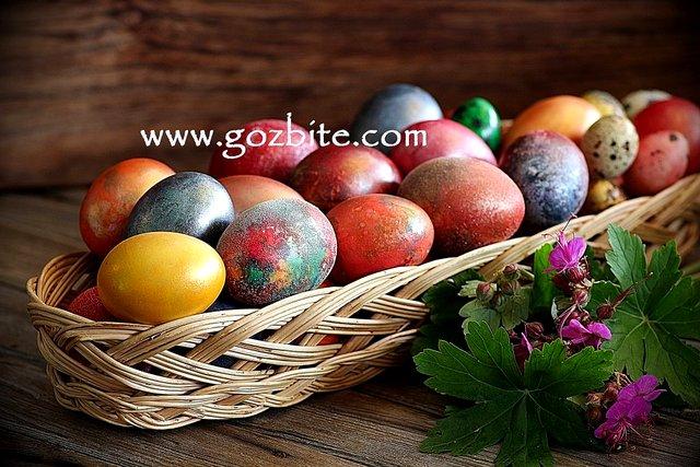 яйца за Великден в панер