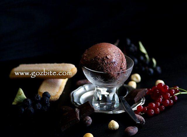 шоколадов сладолед с парченца шоколад