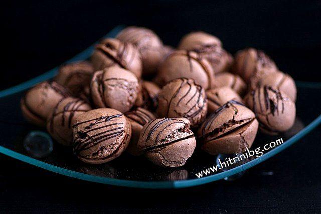 шоколадови целувки с ядки